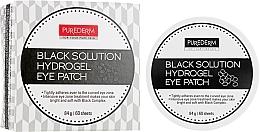 Parfumuri și produse cosmetice Patch-uri de hidrogel cu pulbere de perle - Purederm Black Solution Hydrogel Eye Patch