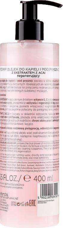 """Gel de duș """"Trandafir"""" - Bielenda Super Skin Diet Velvet Rose — Imagine N2"""