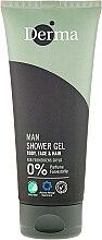 Parfumuri și produse cosmetice Gel-șampon pentru bărbați - Derma Man Body Face & Hair Shower Gel