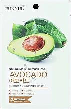 Parfumuri și produse cosmetice Mască hidratantă din țesătură cu avocado pentru față - Eunyul Natural Moisture Mask Pack Avocado