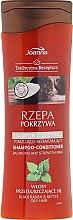 Parfumuri și produse cosmetice Șampon cu extract de ridiche și urzică - Joanna Balancing And Strengthening Shampoo-Conditioner
