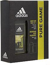 Parfumuri și produse cosmetice Adidas Pure Game - Set (deo/75ml +sh/gel/250ml)