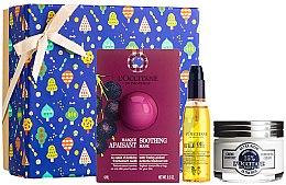 Parfumuri și produse cosmetice Set - L'Occitane Face Care (f/mask/6ml + f/cr/50ml + f/oil/30ml)