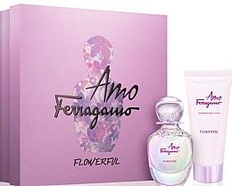 Parfumuri și produse cosmetice Salvatore Ferragamo Amo Ferragamo Flowerful - Set (edt/50ml + b/lot/100ml)