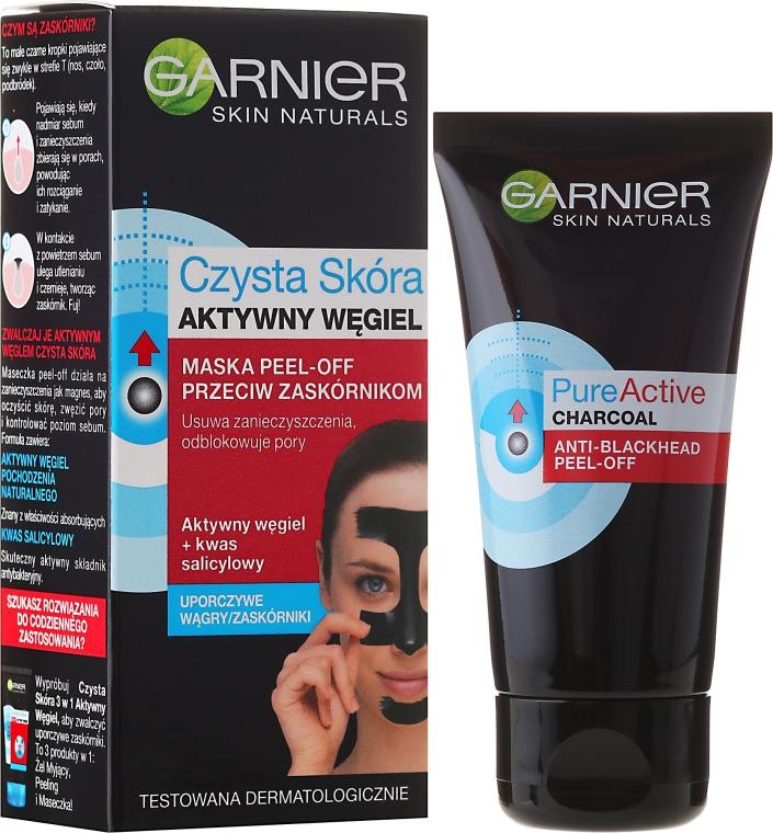 Mască împotriva punctelor negre - Garnier Skin Naturals Anti-Blackhead Peel Off Mask