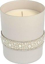 Parfumuri și produse cosmetice Lumânare aromată, 8x9,5 cm, gri - Artman Crystal Glass Pearl