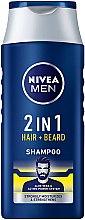 Parfumuri și produse cosmetice Șampon pentru păr și barbă 2în1 - NIVEA Men 2 in 1 Protect & Care Shampoo