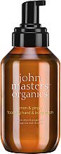 """Parfumuri și produse cosmetice Săpun-spumă pentru mâini și corp """"Lămâie și Ghimbir"""" - John Masters Organics Lemon & Ginger Foaming Hand & Body Wash"""