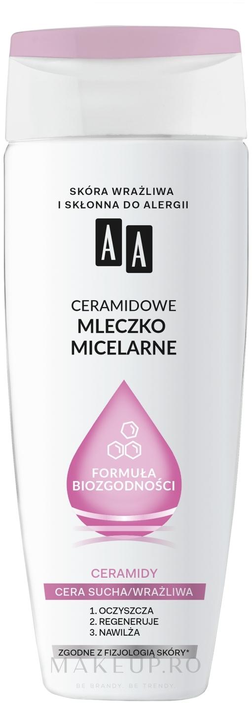 Lapte micelar cu ceramide pentru curățare - AA Biocompatibility Formula — Imagine 200 ml