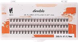 Parfumuri și produse cosmetice Gene individuale, C 8 mm - Ibra 20 Flares Eyelash Knot Free Naturals