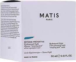 Parfumuri și produse cosmetice Mască-lifting de noapte pentru față - Matis Reponse Preventive Hydramood Night Mask