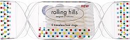 Parfumuri și produse cosmetice Elastic de păr, transparent - Rolling Hills 5 Traceless Hair Rings Cracker