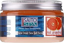"Parfumuri și produse cosmetice Scrub de sare pentru corp ""Grapefruit roșu"" - Saito Spa Salt Body Scrub Red Grapefruit"