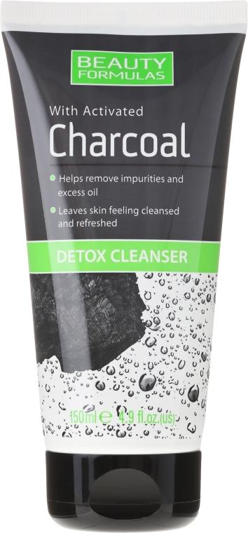 Soluție pentru curățarea pielii feței cu cărbune - Beauty Formulas Charcoal Detox Cleanser