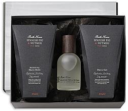 Parfumuri și produse cosmetice Bath House Spanish Fig and Nutmeg - Set (edc/100ml + shave/gel/100ml + shave/balm/100ml)