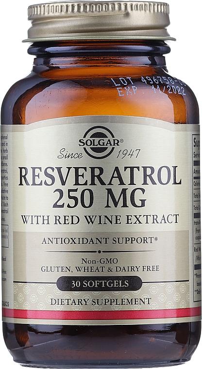 "Supliment alimentar ""Resveratrol"" - Solgar Resveratrol 250 Mg"