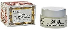 Parfumuri și produse cosmetice Cremă de zi pentru iluminarea tenului - Sostar Skin Whitening Day Cream SPF15 Enriched With Bio Donkey Milk