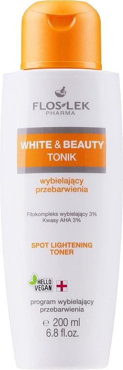 Soluție tonică cu acid glicolic pentru albirea tenului - Floslek White & Beauty AHA Spot Lightening Toner