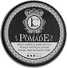 Parfumuri și produse cosmetice Pomadă neagră pentru păr - Lavish Care Black Pomade Medium Hold Black