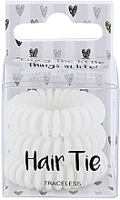 Parfumuri și produse cosmetice Elastice pentru păr, albe - Cosmetic 2K Hair Tie White