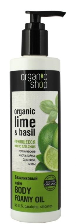 Ulei de duș - Organic shop Body Foam Oil Organic Lime and Basil — Imagine N2