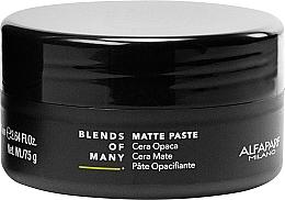 Parfumuri și produse cosmetice Pastă matifiantă de păr, fixare medie - Alfaparf Milano Blends Of Many Matte Paste