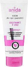 Parfumuri și produse cosmetice Cremă de mâini și unghii - Anida Pharmacy Linen Extract Hand Cream