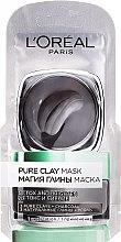 Parfumuri și produse cosmetice Mască de curățare cu argilă naturală și cărbune - L'Oreal Paris Skin Expert (mostră)
