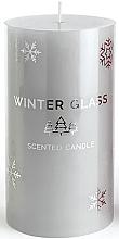 Parfumuri și produse cosmetice Lumânare parfumată, gri, 7x13cm - Artman Winter Glass