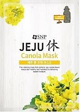 Parfumuri și produse cosmetice Mască hidratantă din țesătură, cu ulei de cânepă - SNP Jeju Rest Canola Mask