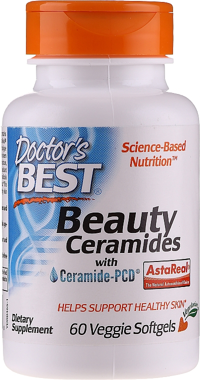 Ceramide ale frumuseții - Doctor's Best Beauty Ceramides with Ceramide-PCD