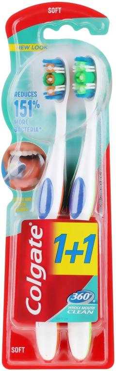Periuță de dinți - Colgate 360 Whole Mouth Clean Soft — Imagine N1
