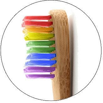 Periuță de dinți din bambus, curcubeu - The Humble Co. Proud Rainbow Soft Toothbrush — Imagine N3