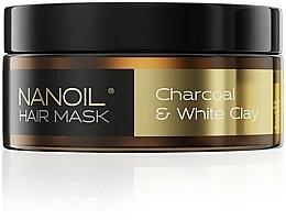Parfumuri și produse cosmetice Mască pe bază de cărbune și argilă albă pentru păr - Nanoil Charkoal & White Clay Hair Mask