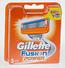 Parfumuri și produse cosmetice Casete de rezervă pentru aparat de ras, 5 bucăți - Gillette Fusion Power