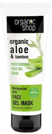 Mască-gel hidratantă cu aloe și bambus - Organic Shop Gel Mask Face