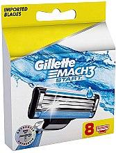 Parfumuri și produse cosmetice Casete de rezervă pentru aparat de ras, 8 buc - Gillette Mach3 Start