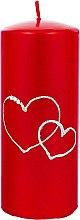 Parfumuri și produse cosmetice Lumânare decorativă, roșie, 7x17 cm - Artman Forever