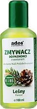 Parfumuri și produse cosmetice Soluție pentru îndepărtarea ojei, cu miros de pădure - Ados Acetone Nail Polish Remover