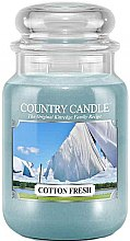 Parfumuri și produse cosmetice Lumânare aromată (borcan) - Country Candle Cotton Fresh