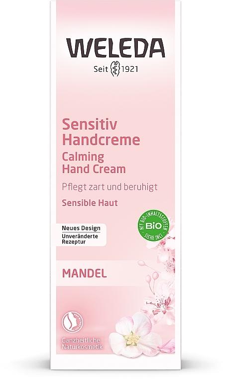 Cremă cu extract de migdale pentru mâini - Weleda Mandel Sensitiv Handcreme — Imagine N3