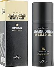 Parfumuri și produse cosmetice Mască de oxigen cu extract de mucină de melc și cărbune - The Skin House Black Snail Bubble Mask