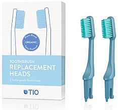 Parfumuri și produse cosmetice Duze înlocuibile pentru periuța de dinți, moi, albastru - TIO Toothbrush Medium