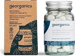 """Parfumuri și produse cosmetice Tablete pentru curățarea dinților """"English mint"""" - Georganics Natural Toothtablets English Peppermint"""