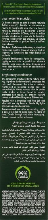 Balsam pentru păr blond, natural și vopsit - Rene Furterer Okara Blond Brightening Conditioner — Imagine N3