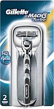 Aparat de ras clasic cu 2 casete rezervă - Gillette Mach 3 Turbo — Imagine N9