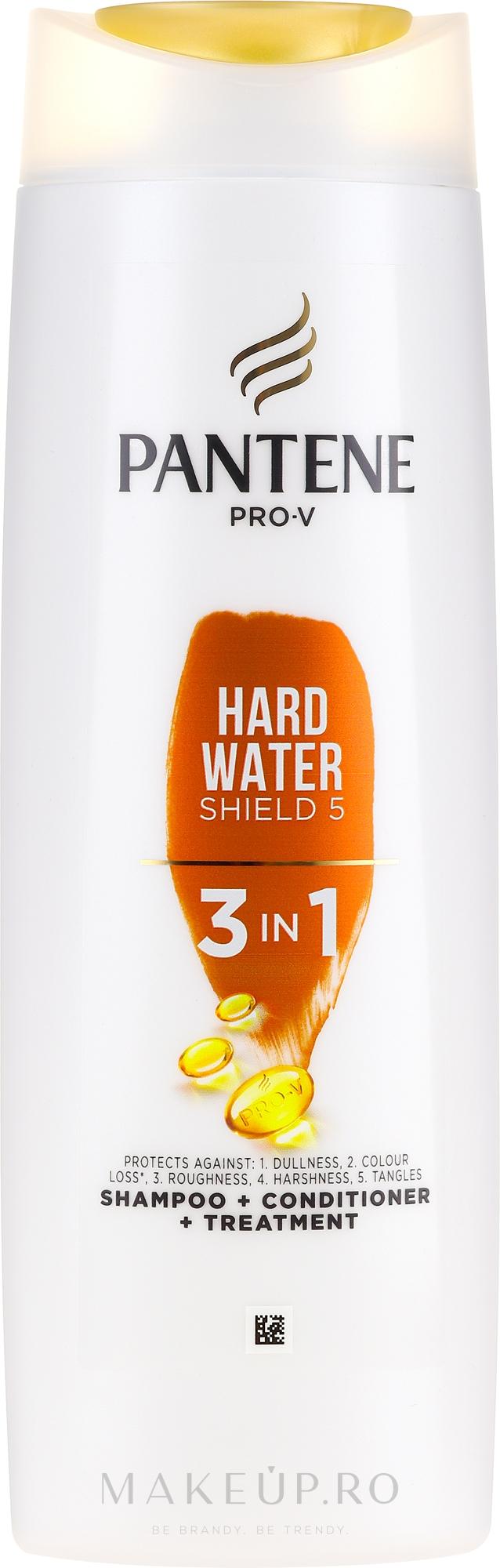 Șampon- balsam de păr - Pantene Pro-V Hard Water Shield 5 3in1 Shampoo — Imagine 360 ml