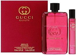 Parfumuri și produse cosmetice Gucci Guilty Absolute Pour Femme - Set (edp/90ml + edp/mini/7,4ml)