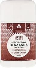 "Parfumuri și produse cosmetice Deodorant stick ""Nordic Timber"" - Ben & Anna Natural Soda Deodorant Nordic Timber"