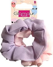 Parfumuri și produse cosmetice Set elastice de păr, 417616, roz și violetă - Glamour